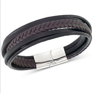 Legacy for Men black & brown leather bracelet